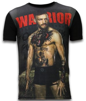 Local Fanatic McGregor Warrior - Digital Rhinestone T-shirt - Black