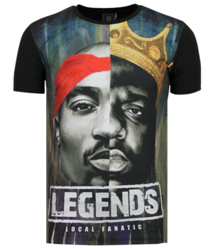 Local Fanatic Christopher Notorious T-shirt - 2PAC Legends - Black