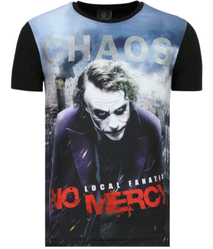 Local Fanatic The Joker Men's T-shirt - Chaos No Mercy - Black