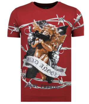Local Fanatic Bad Angel - Funny T-shirt Men - Bordeaux