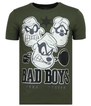 Local Fanatic Beagle Boys - Funny T-shirt Men - Green
