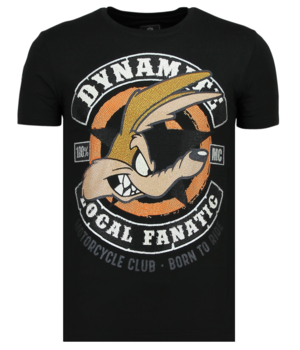 Local Fanatic Dynamite Coyote - Printed T-Shirt Men - Black