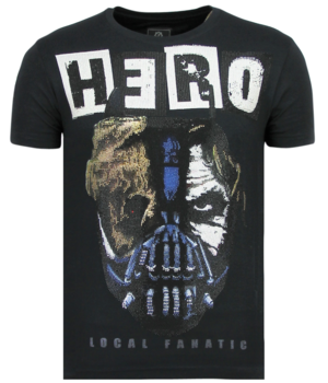 Local Fanatic Hero Mask Printed Men T Shirt - Navy