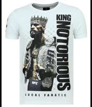 Local Fanatic Men T Shirt King Notorious - White