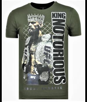 Local Fanatic Men T Shirt King Notorious - Green