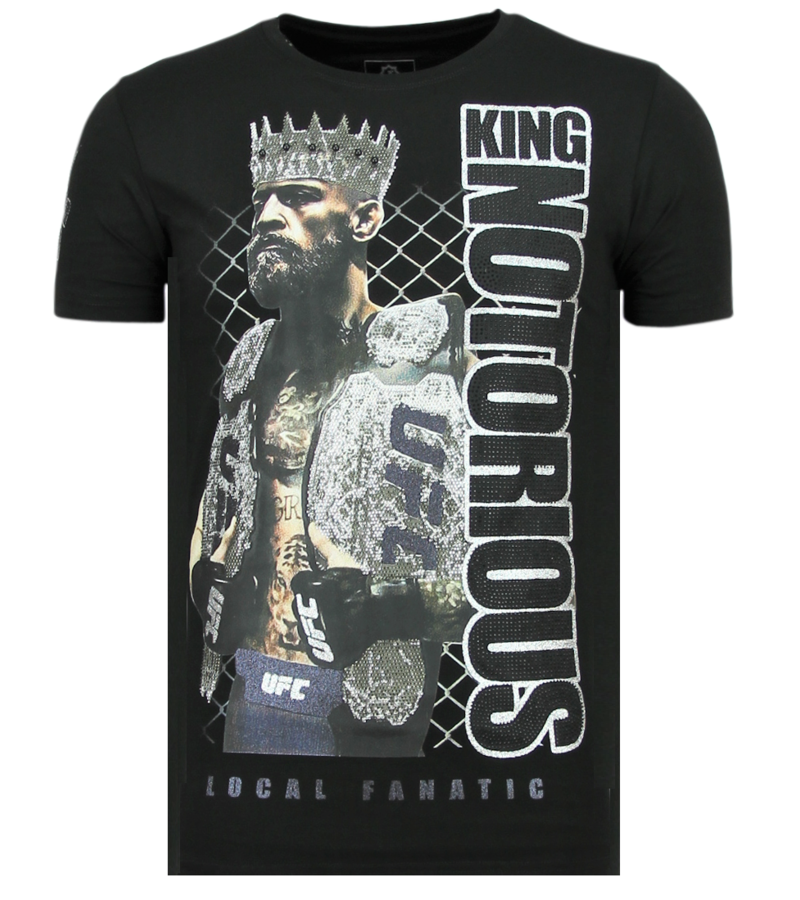 Local Fanatic Men Luxury T-shirt - King Notorious - Black