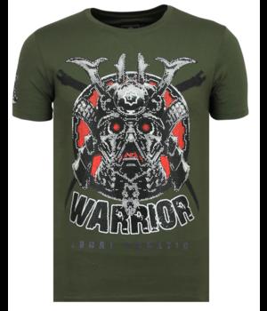 Local Fanatic Savage Samurai - Men Tough T-shirt - Green