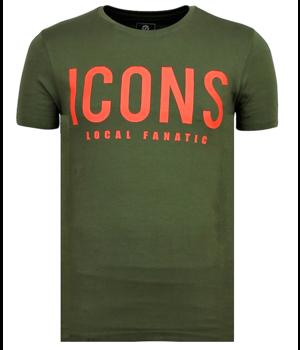 Local Fanatic ICONS New - T-shirt Men Cool - Green