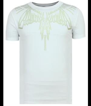 Local Fanatic Eagle Glitter - Tight Men's T-shirt - White