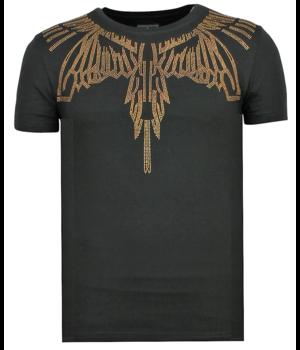 Local Fanatic Eagle Glitter New - Tight Men's T-shirt - Black