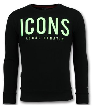 Local Fanatic ICONS New - Men Nice Sweater - Black