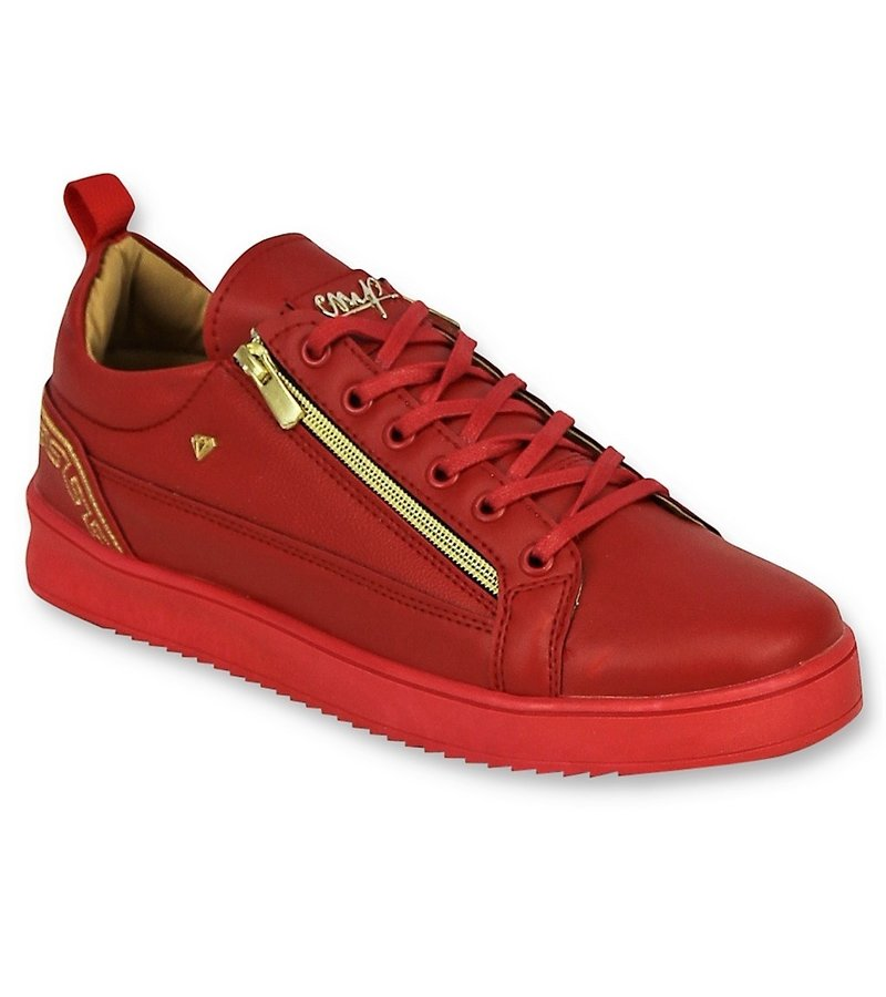 Cash Money Red Men Sneakers - Cesar Red Gold CMP97 - Red