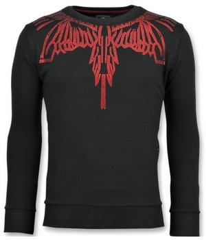 Local Fanatic Eagle Glitter - Men Brand Sweater - Black
