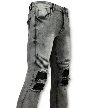 New Stone Grey Biker Skinny Jeans Men - Men Pants - Grey
