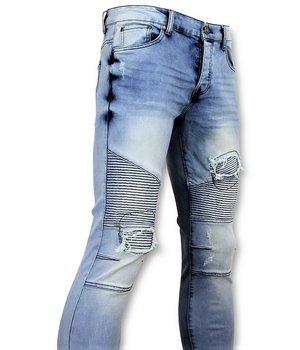 New Stone Blue Skinny Jeans -  Men's Pants - Blue