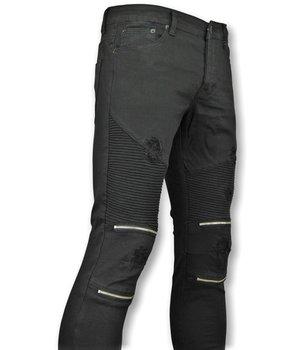 New Stone Black Biker Skinny Jeans Men - Men Pants New  - Black