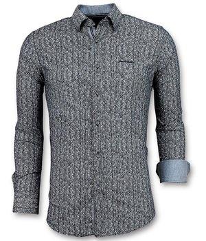 Gentile Bellini Men Luxury Italian Shirts Pointed Star - Blue