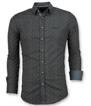 Gentile Bellini Men's Printed Shirts - Black