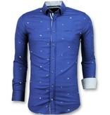 Gentile Bellini  Bicycle Printed Men Shirts - Blue