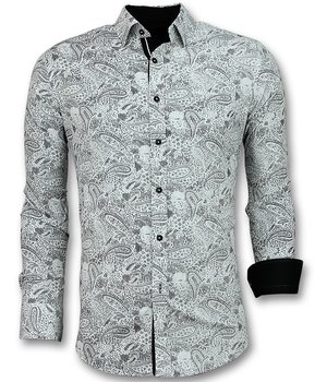 Gentile Bellini Paisley Print Shirt For Men - White