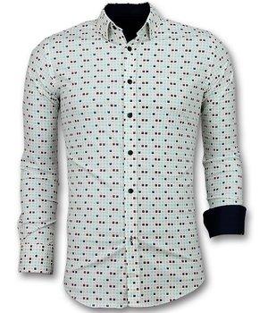 Gentile Bellini Tetris Blok Men Shirts - Beige