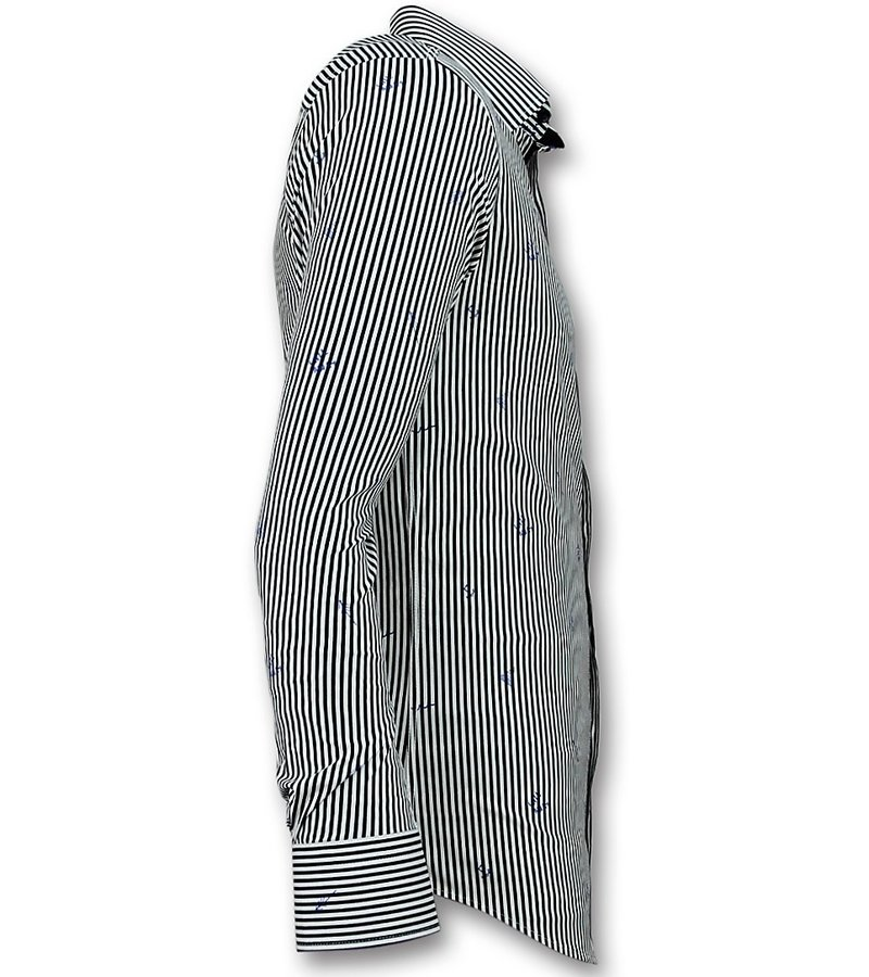 Gentile Bellini Italian Blouse Men - Shirt with Stripes - White