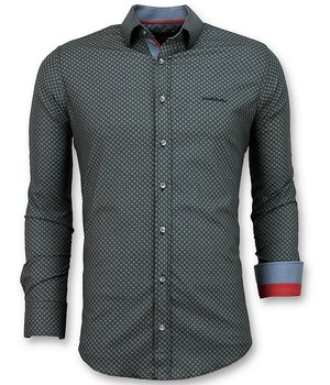 Gentile Bellini Luxury Italian Shirts - Sunshine Blouse Men - Black