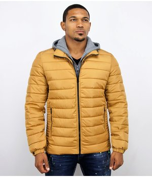 Enos Men Padded Jacket With Hood - Yellow