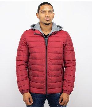 Enos Short Winter Jacket - Men Casual Jacket - Red