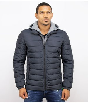 Enos Men Padded Jacket With Hood - Blue