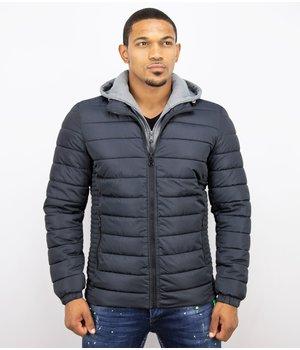 Enos Men Short Winter Jacket - Casual Jacket - Blue