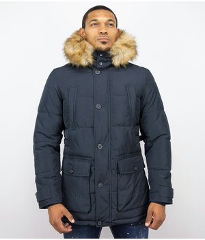 Enos Men's Winter Jackets With Hood - Blue