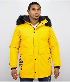 Enos Winter Jacket Fur Collar Men - Yellow