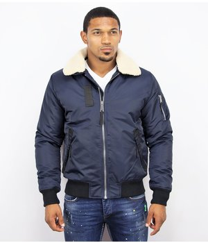Y chromosome Casual Pilot Jacket - Bomber Jack - Blue