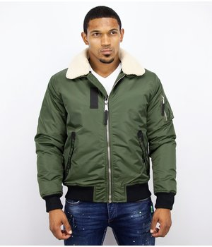 Y chromosome Casual Pilot Jacket - Bomber Jack - Green