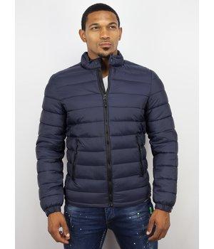 Enos Winter Coats - Men Winter Jacket Short Down Jack - Navy