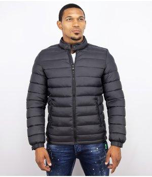 Enos Winter Coats - Men Winter Jacket Short Down Jack - Black