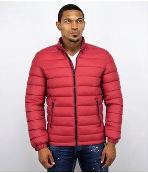 Enos Winter Coats - Men Winter Jacket Short - Down Jack - Red