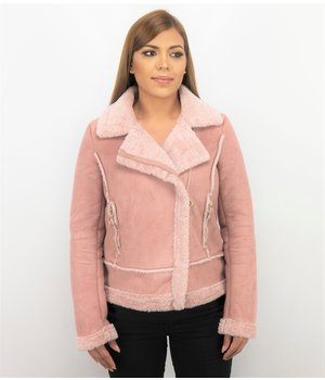 Z-design Women Lammy Coat Suede - Pink