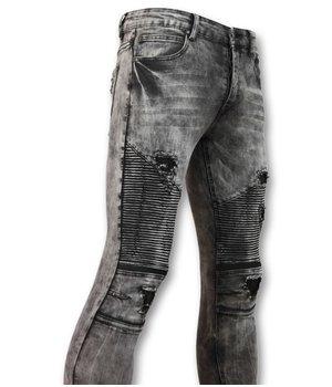 New Stone biker Jean Ripped Men - 3010 - Grey