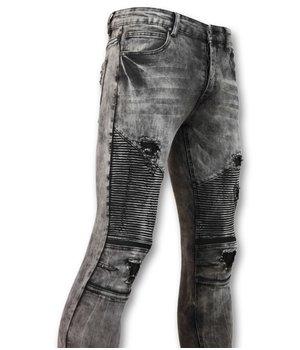New Stone Trendy biker Jeans Men - Gray Jeans - 3010 - Grey