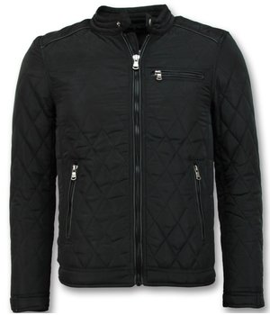 Enos Slim Fit Light jacket For Men - Black