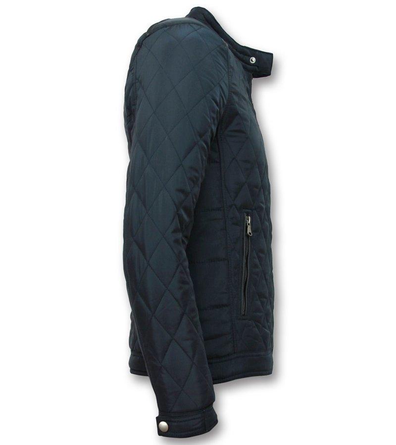 Enos Slim Fit Jacket - Men's Jacket Short Model  - Blue