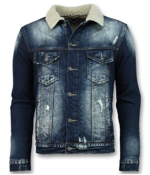 Wareen W Trucker Men's Jacket - Men's Denim Jacket - Blue