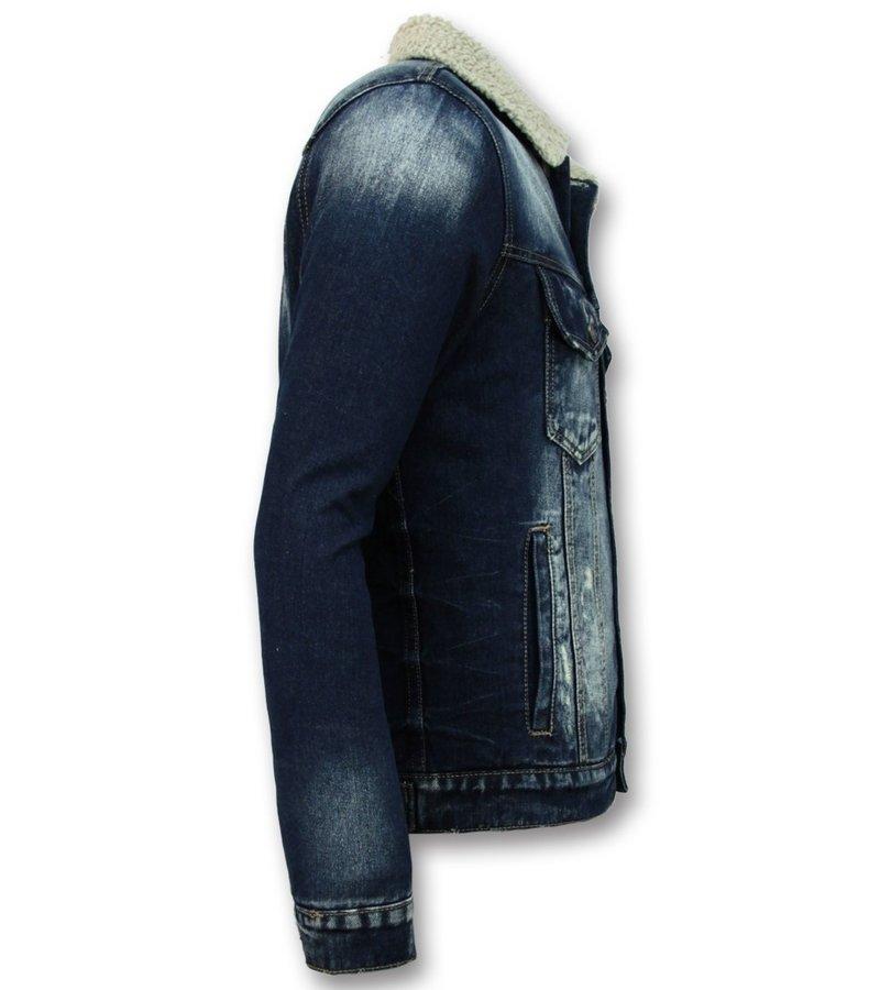 Wareen W Trucker Men's Jacket - Men's Denim Jacket - Blue