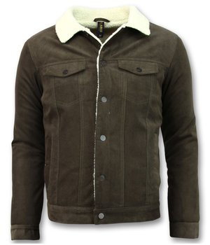 Palablu Trucker Men's Jacket - Denim Jacket - Brown