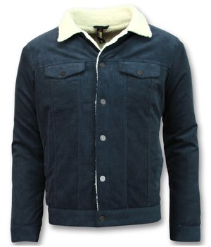 Palablu Sherpa Trucker Jacket Men - Blue
