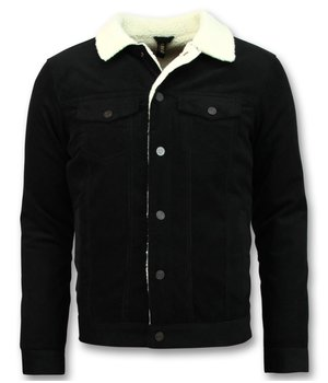 Palablu Sherpa Trucker Jacket Men - Black