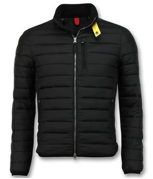 Enos Short Men's Jacket - Slim Fit Quilted Jacket - Black