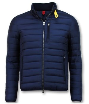 Enos Men's Short Jacket - Slim Fit Quilted Jacket - Navy